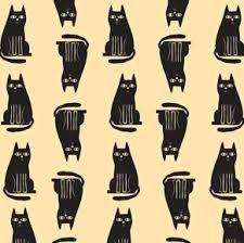 Resultado de imagem para estampa de gatos