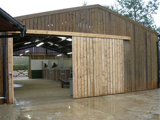 Steel Frame And Timber Boarding Internal Stablesstables