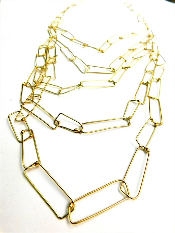 Dora Haralambaki golden chains - Minimalistic | Gold | Jewellery handmade created by Dora Haralambaki -  brighten up your day -