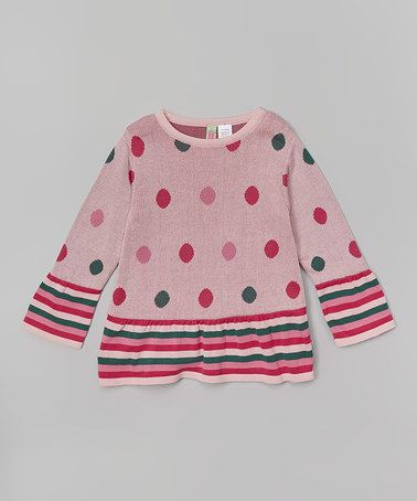 Another great find on #zulily! Pink Polka Dot Ruffle Tunic - Infant, Toddler & Girls #zulilyfinds