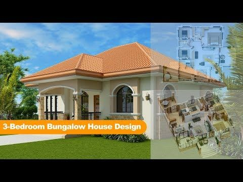 Three Bedroom Bungalow House Design Pinoy Eplans Bungalow House Design Bungalow House Plans Beautiful House Plans