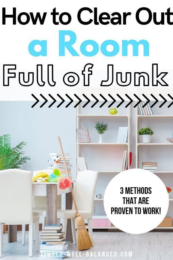 Genius tips to help you declutter your junk room. How to get started organizing any room that is packed with clutter. #declutter #decluttering #minimalist