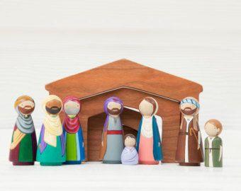 Clavija de madera muñecas / / Peg Fandom por PegHeads en Etsy