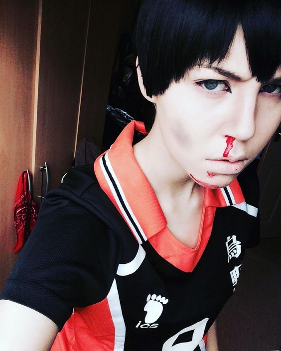 I forgot to mention earlier but this beat up Kageyama is also inspired by @hinata_potata 's post on beat up hinata!! So give them a follow and like some of their stuff.  #tobiokageyama #tobiokageyamacosplay #kageyamatobio #kageyama #haikyuuseason2 #haikyuucosplay #haikyuu #cosplay #cosplayer #anime #manga #animeguy #animecosplay #blood #sfxmakeup #sfx
