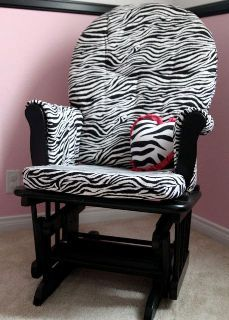 Ashley from Lil Blue Boo gives a nursery rocker a style update by recovering the cushions. Lovin' the newzebra print! Get the how-to.