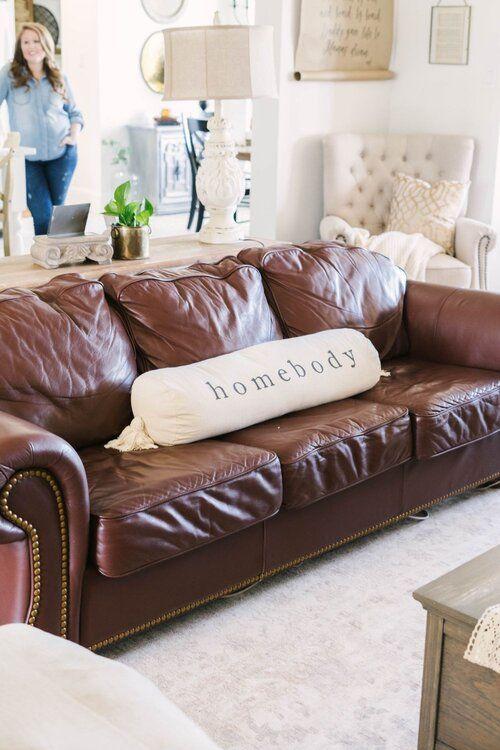 40+ Farmhouse leather sofa most popular
