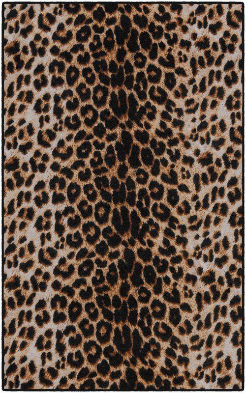 World Menagerie Lassiter Print Brown Black Area Rug Wayfair Leopard Print Wallpaper Leopard Print Rug Leopard Print Background