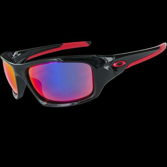 oakley valve polarized iridium  oakley valve polished black red iridium sunglasses