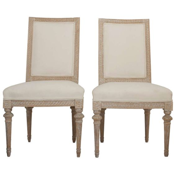 Pair of Gustavian Side Chairs by Melchior Lundberg | From a unique collection of antique and modern side chairs at http://www.1stdibs.com/furniture/seating/side-chairs/