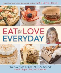 "Eat What You Love–Everyday! offers 200 brand-new guilt-free recipes for every day, every occasion—and everyone! No one knows the foods Americans love to eat best, or makes fat, calories, and sugar ""disappear"" like Marlene."