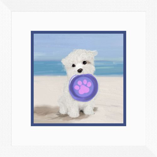Found it at Wayfair - Beach Dog II Framed Painting Print