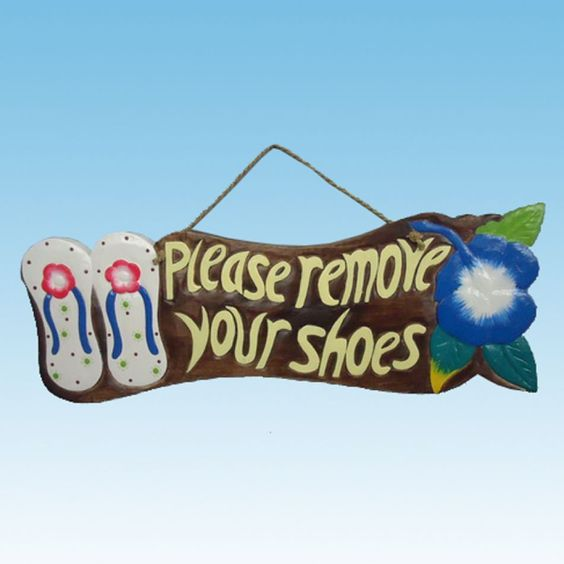 """take off you shoes signs   ... Your Shoes Sign 21"""" Model Ship Assembled - Beach Signs Models Replica"""