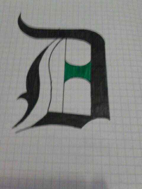 Letra con tipografía gótica
