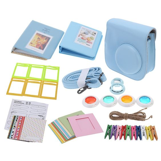 High Quality 7 in 1 Instant Film Camera Accessories Bundles for Fujifilm Instax Mini8 with Case/Photo Album/Close-Up Selfie Lens/Colors Close-Up Lens/Wall Hang Frames/Photos Frame/Stickers Cute Kids Friends Gift from Tomtop.com