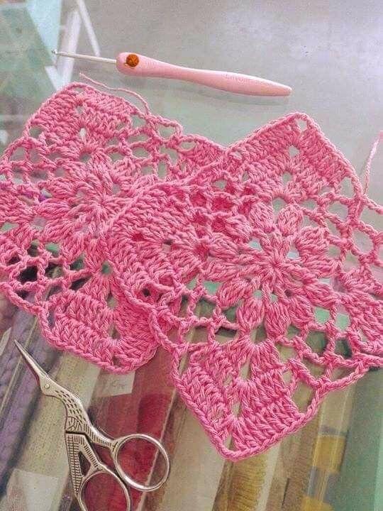 Pin De Hortensia Fallas Em Tapetado Blocos De Croche Toalha De Croche Quadrada Trico E Croche