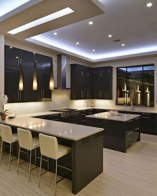 Modern Pop False Ceiling Designs For Kitchen Interior With