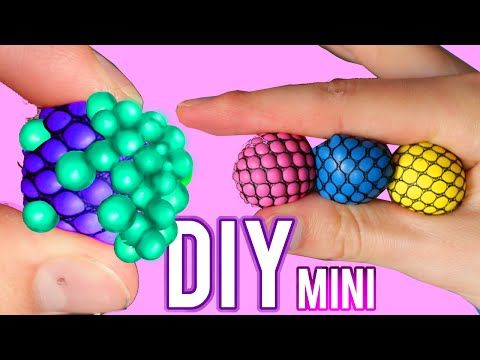 DIY Mini Squishy Mesh Stress Ball! Changes Color Stress Ball! - YouTube Arts and crafts ...