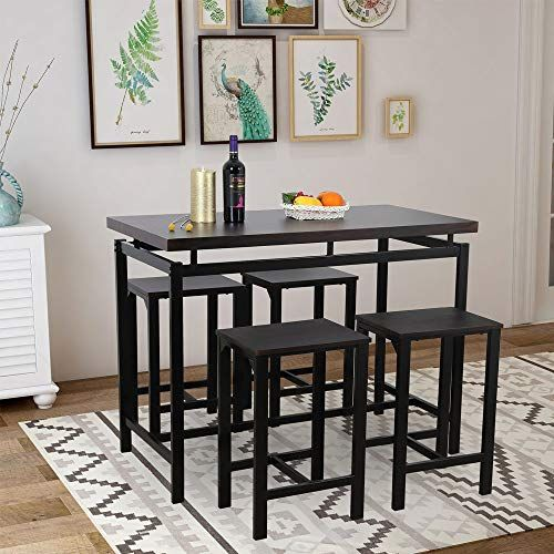 Yetech 5 Pieces Dining Table Set Modern Style Wooden Dining Table