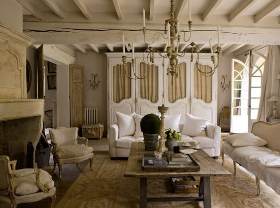 French: Interior Design, Coffee Tables, Country French, Living Rooms, Livingroom, French Decor, French Country, French House, Family Room