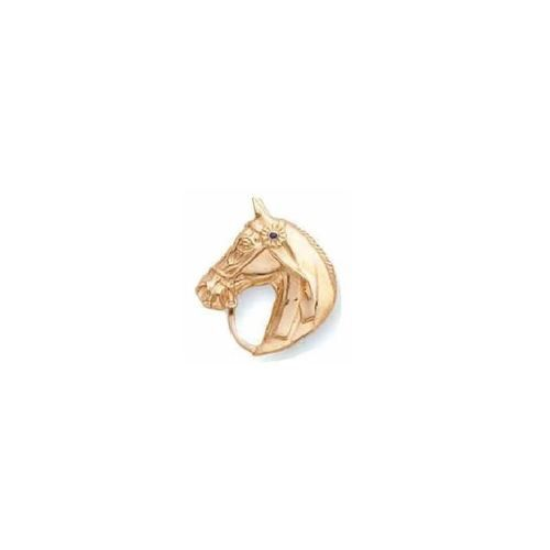 This dazzling 14k Gold Horse Head Pin from the wildlife collections of Kabana…