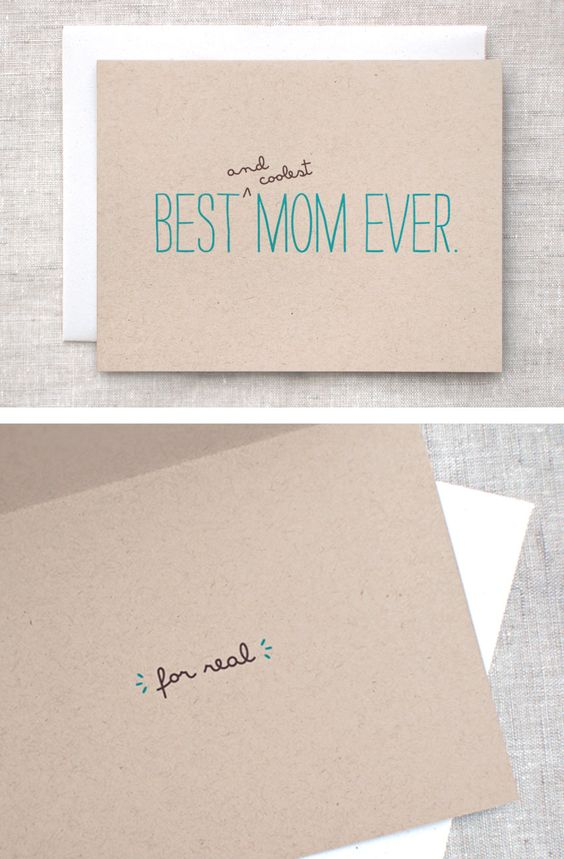 Mothers Day Card FunnyBest Mom Ever For RealFunny Birthday