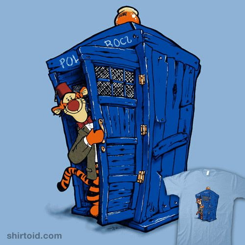 Tee shirt with a TARDIS that's Tigger on the inside. (Extra credit for the honeypot light on top)