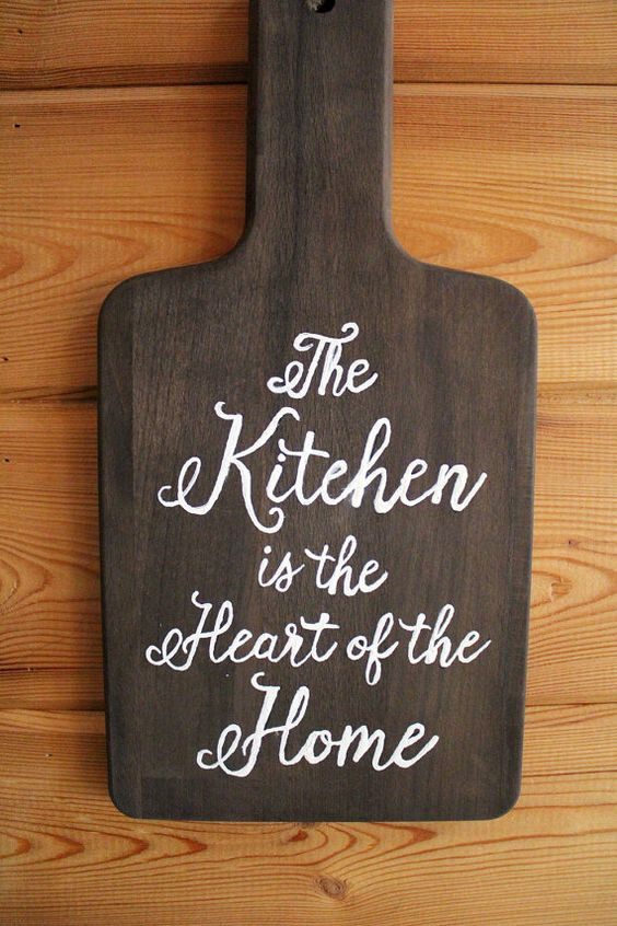 Custom Hand Lettered Kitchen Word Art Urban by TheCraftandCupboard
