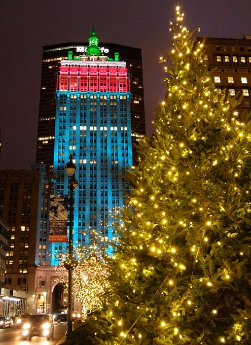 ニューヨークのクリスマス街並み