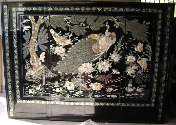 korean closet peacock mother of pearl wardrobe oriental furniture black lacquer amazoncom oriental furniture rosewood korean tea table