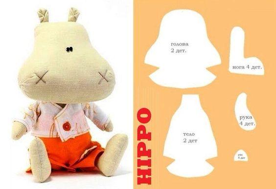 Lindo hipopótamo, patrones