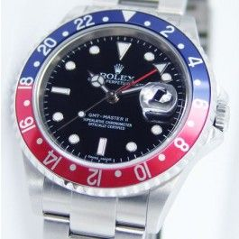 Rolex | SS GMT-Master II | Red & Blue Bezel | $6,985