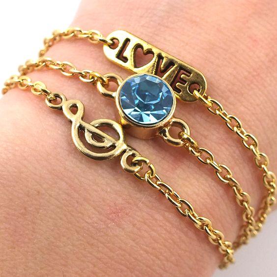 Blog - NIEUW! Fijne armbandjes met schakelketting #armcandy #fashion #sieraden #jewelry #jewellery #music #swarovski #pijl #love #armband #muziek