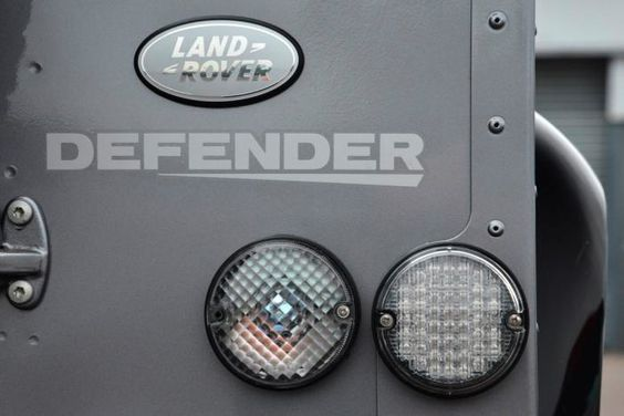 Sleek lines and a dark colour scheme both create a sophisticated image. #Defender #detail #LandRover
