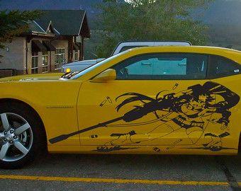 Anime Car Decal Anime Auto Anime Anime By Beacreativedesigner Rc