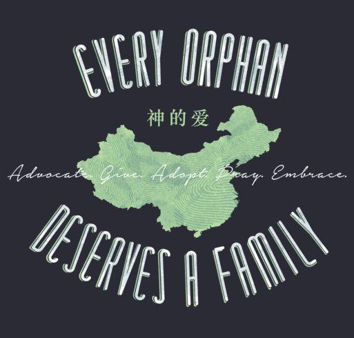 China adoption t shirt agape every orphan deserves a for Adoption fundraiser t shirts