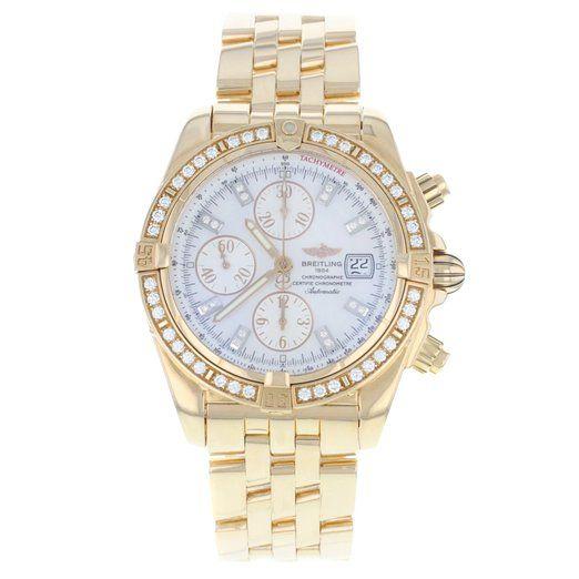 Breitling Chronomat Evolution H13356 Original Diamond Bezel Steel Men's Watch