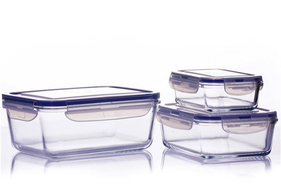 Homeasy® High Quality Food Container - made of high borosilicate glass,real durable pyrex glass