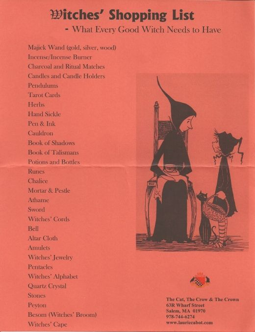 Witch shopping list - anyone remember the name of the book that the illustration from?