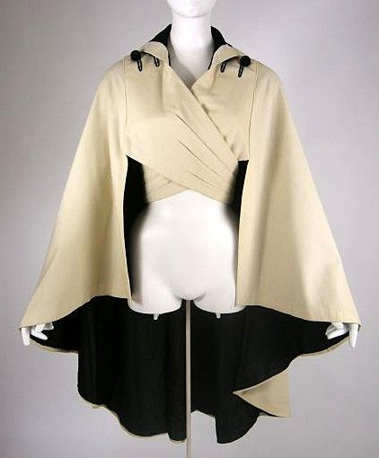 Reville & Rossiter Ltd. Cashmere and velvet cloak with silk taffeta lining, c. 1912