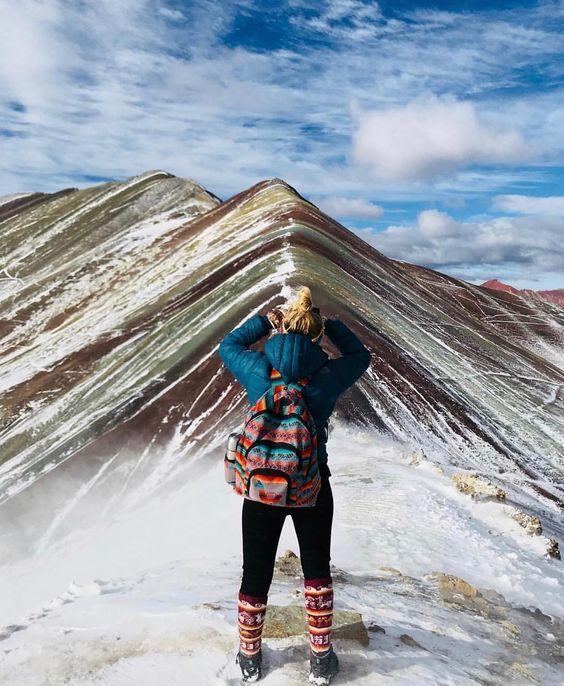 La Montaña de Colores y Valle Rojo es uno de los mejores lugares en #Cusco