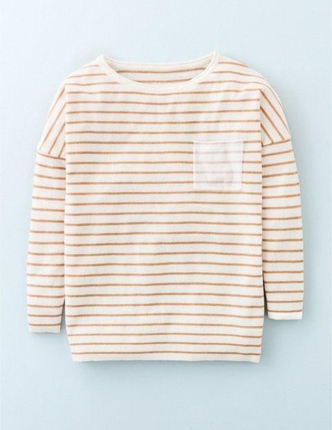 Lässiger Pullover mit Tasche WV082 Pullover bei Boden