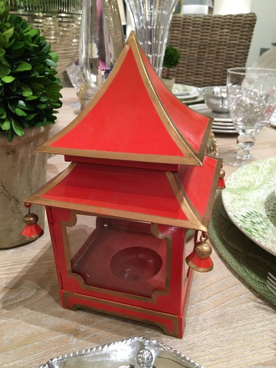 Mini Pagoda Red & Gold. $76.00.  #pagoda
