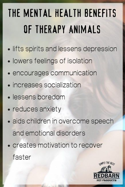 mental health benefits therapy animals
