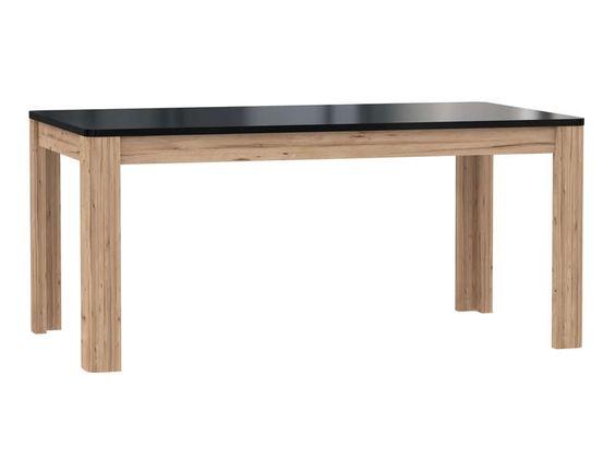 Table avec allonge LEVI coloris noir/ chêne - pas cher ? C'est sur Conforama.fr - large choix, prix discount et des offres exclusives Table sur Conforama.fr