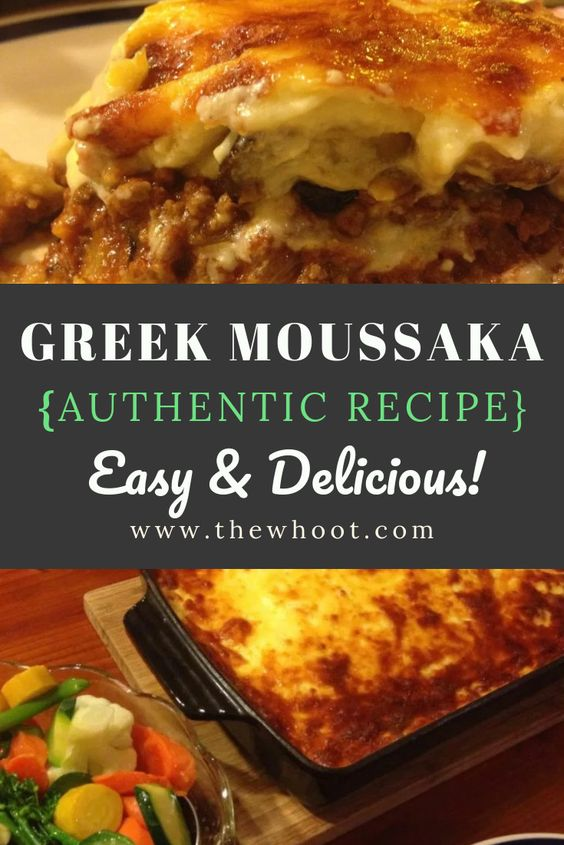 Greek Moussaka Authentic Recipe | The WHOot
