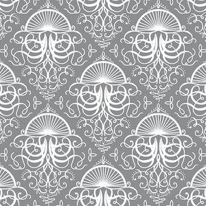 Hawthorne Threads - Mariner - Jellyfish Bloom in Smoke #MarinerFabric