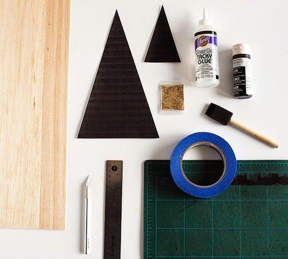 Diy pinos de navidad de madera de okume o cartón | DEF Deco - Decorar en familia