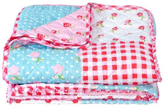 Sprei fleur vrolijke decoratie voor de meisjeskamer kidsroom girlsroom babykamer of - Kinderkamer decoratie ...