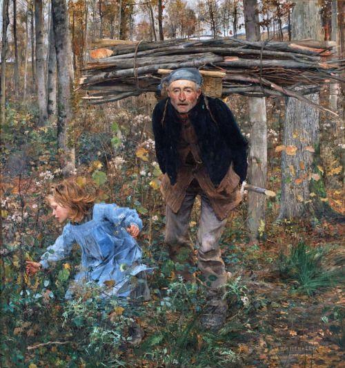 Jules Bastien-Lepage - Le Père Jacques (woodgatherer), 1881