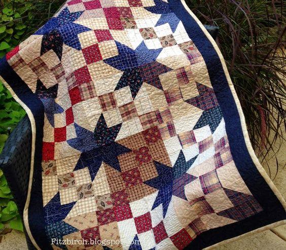 Stunning Arkansas Crossroads quilt - a definite heirloom piece